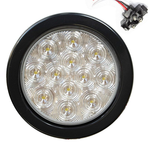 "4"" Round Clear 10 LED Back-up Reverse Light"