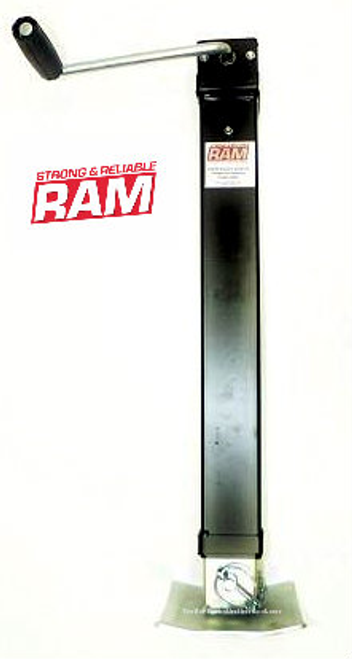 Ram 8k Side Wind Weld-On Trailer Jack w/ Foot