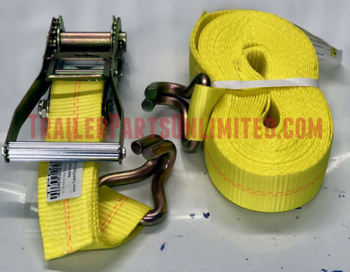"2"" x 30' ratchet strap with wire hook"