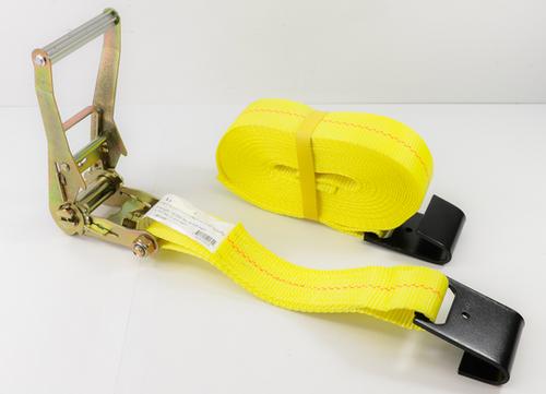 "2"" x 30' Ratchet Strap Assembly Long Handle w/ Flat Hooks"