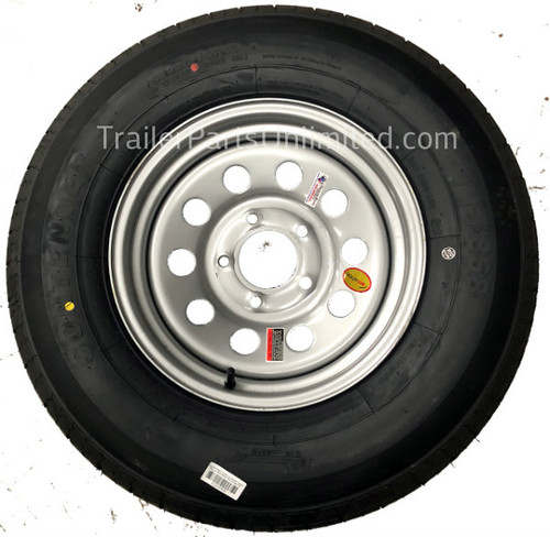 "14"" galvanized tire and wheel combo"