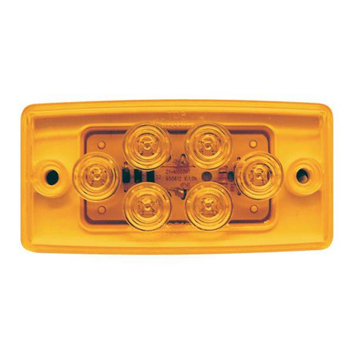 "4-1/2"" x 2-1/4"" Rectangular Amber 6 LED Freightliner, Mack, Famsa & Sterling Cab Light"