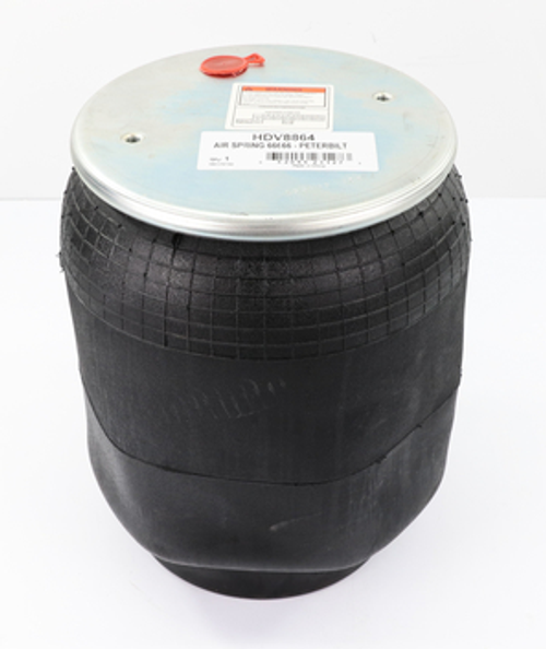 Product Specifications Description 9 10-19 P 898 Part Number 66666 Weight 13.6 lb Position Number 9308765 Torque 3/8-16 UNC: max. 20 lbf ft 1/2-14 NPTF: max. 22 lbf ft 1/2-13 UNC: max. 35 lbf ft Cross References: Automann 1DK23L-8864 Firestone No W01-358-8864 Firestone Style 1T15M-9 FleetPride AS8864 Triangle AS-8898 TRP AS88640 AIR SPRING 66666 - PETERBILT
