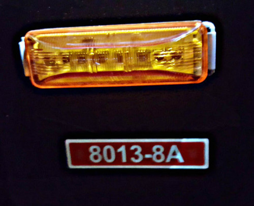 """8013, 4"""" amber rectangular led marker light"""