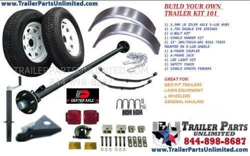 BUILD YOUR OWN SINGLE AXLE TRAILER WITH TRAILER KIT #101 FROM TRAILER PARTS UNLIMITED