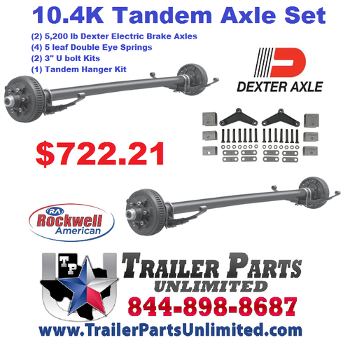 10.4k Tandem Axle Trailer Set Both With Brakes and All The Hardware