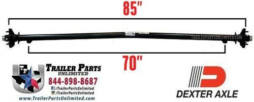 """3.5k axle, Dexter axle, 5 lug, 6' wide frame, 85""""/70"""""""