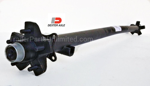 Dexter Trailer Axle.3.5k  capacity idler axle with 5 lug ez lube hubs fully assembled