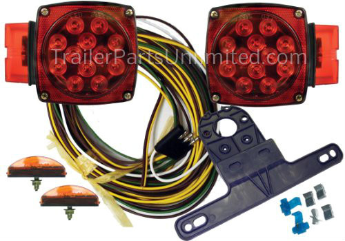 Universal LED Submersible Marine & Boat Trailer Light Kit For Under on dune buggy wiring harness, chopper wiring harness, venom motorcycles wiring harness, honda spirit headlight wiring harness, honda spirit had light wiring harness,