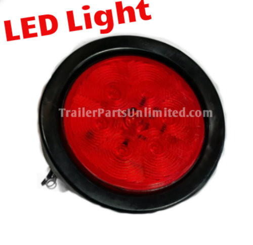 "Stop, Turn, Tail, LED Trailer Light kit, Round 4"" Brake light"