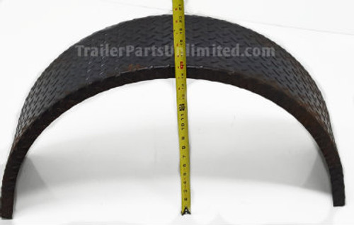 Heavy duty single axle trailer fender