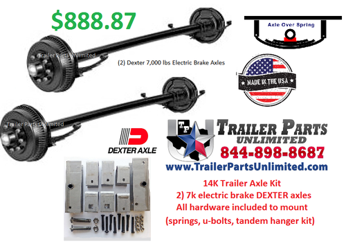 14K Tandem Axle Trailer Kit With All Needed Hardware