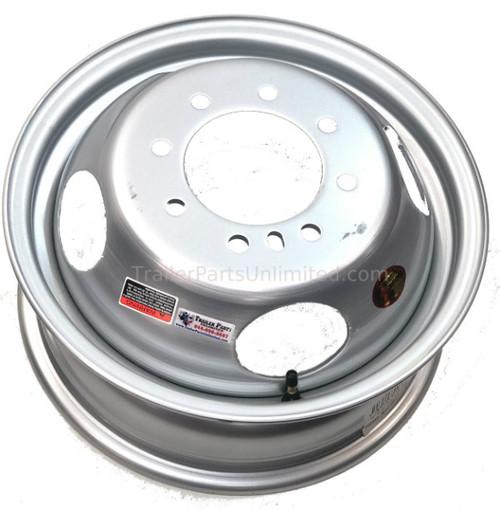 "16"" dual trailer wheel. 8 lug dual wheel. 8x6.5"" silver dual 16"" wheel"