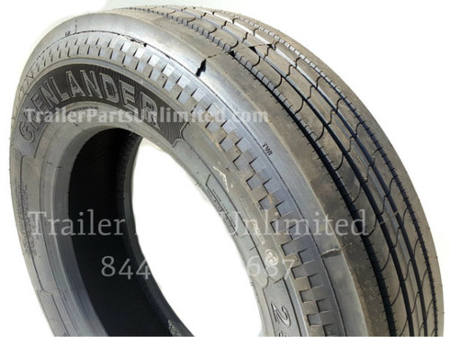 "295/75R22.5 14 Ply Grenlander GR612 Steer Tire. Brand new new mounted low pro 22.5"" Steer Tire"