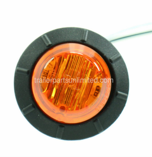 "Mini 3/4"" Round Amber Led Marker light Grommet kit"