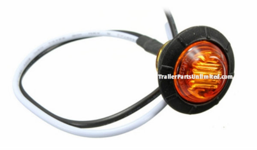 "Mini amber 3/4"" Round side led marker trailer bullet clearance license  light"