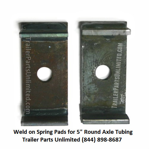 """Upload image 2 Spring Pads For 5"""" Round Axle Tubing (10k 12k Axle)"""