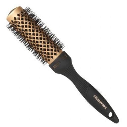 BRUSHWORX - Gold Series - Gold Ceramic Hot Tube Hair Brush - Medium