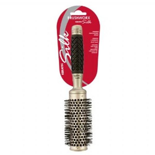 BRUSHWORX - Keratin Silk - Ceramic Hot Tube Hair Brush - Medium