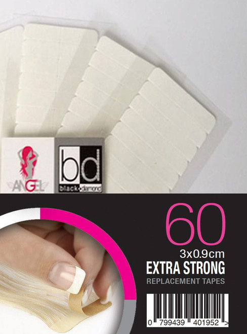 ANGEL EXTENSIONS - Replacement Tapes Extra Strong Slimline 3 x 0.9cm - 60pk