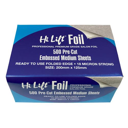 HI LIFT - 500 Pre-Cut Embossed Medium Folded Foil Sheets
