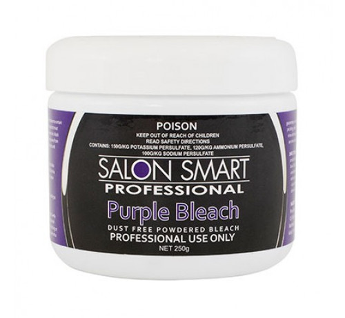 SALON SMART - Dust Free Powdered Bleach - Purple 250g