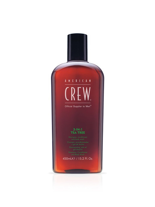 AMERICAN CREW - 3-in-1 Tea Tree Shampoo 450ml