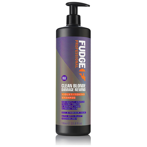 FUDGE PROFESSIONAL - Clean Blonde Damage Rewind Violet Toning Shampoo 1000ml