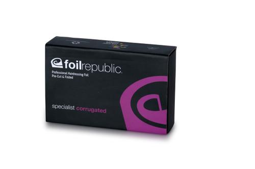 FOIL REPUBLIC -Specialist Corrugated SHORT/WIDE Pre-Cut & Pre-Folded Foil