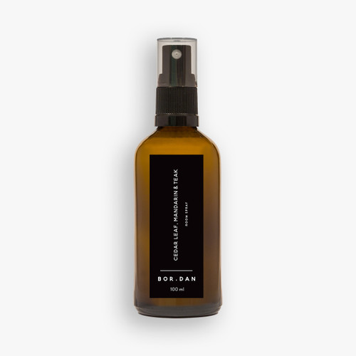 BOR.DAN - Room/Linen Spray - Cedar Leaf, Mandarin & Teak 100ml