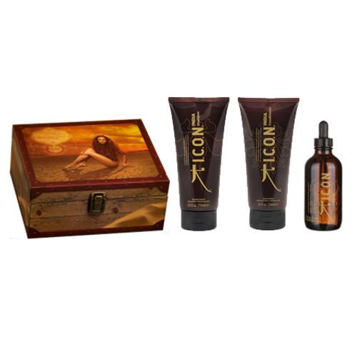 ICON - India Trio Gift Pack - Shampoo, Conditioner & Oil
