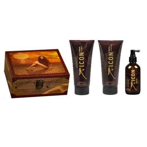 ICON - India Trio Gift Pack - Shampoo, Conditioner & Dry Oil