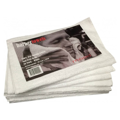 IN MOOD - Barber Towels - White 10pk