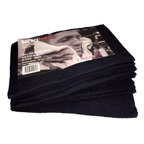 IN MOOD - Barber Towels - Black 10pk