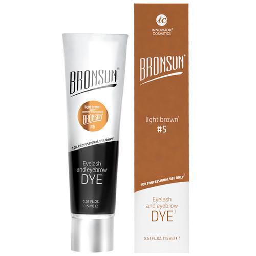 BRONSUN - Eyelash & Eyebrow Dye - Light Brown #5 - 15ml
