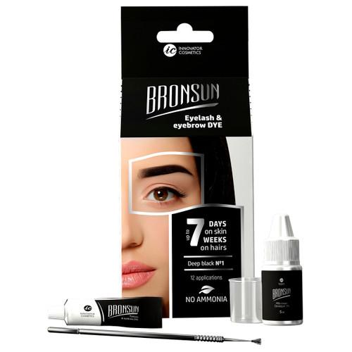 BRONSUN - Eyelash & Eyebrow Dye - Trial Kit - Deep Black #1