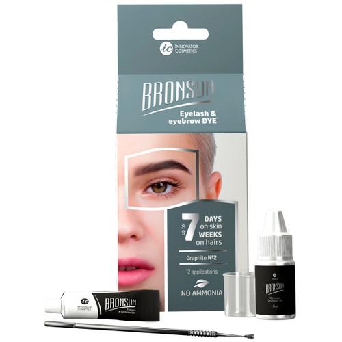 BRONSUN - Eyelash & Eyebrow Dye - Trial Kit - Graphite #2