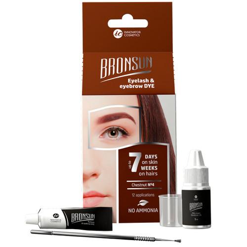 BRONSUN - Eyelash & Eyebrow Dye - Trial Kit - Chestnut #4