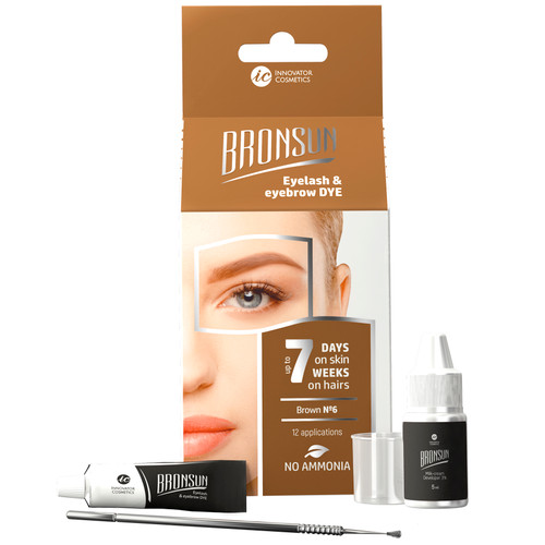 BRONSUN - Eyelash & Eyebrow Dye - Trial Kit - Brown #6