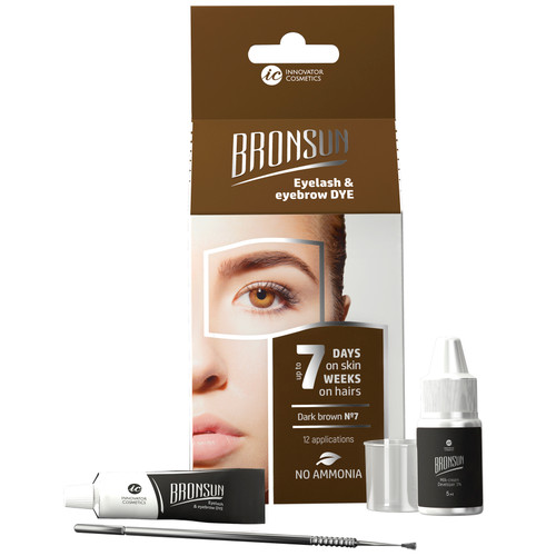 BRONSUN - Eyelash & Eyebrow Dye - Trial Kit - Dark Brown #7