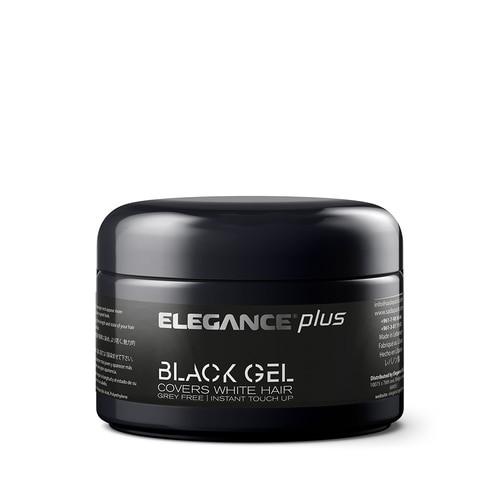 ELEGANCE - Plus Hair Styling Black Gel 100ml