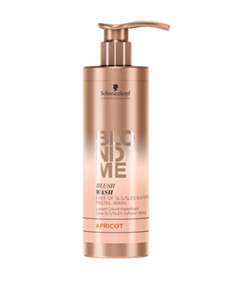 SCHWARZKOPF - BLONDME - Blush Wash - Sulfate Free Pastel Wash 250ml - Apricot