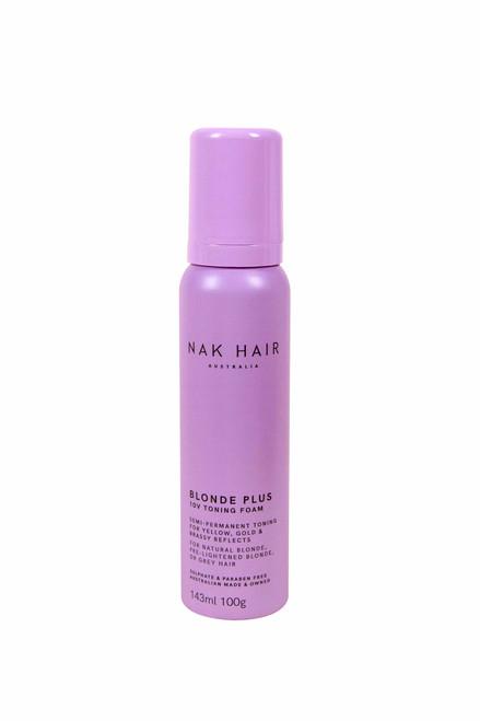 NAK HAIR - Blonde Plus 10V Toning Foam 100g