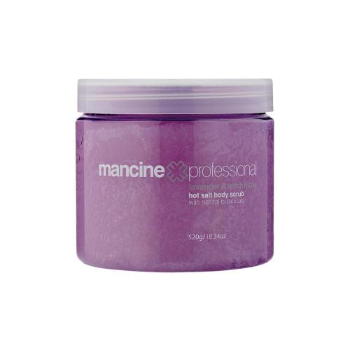 MANCINE - Hot Salt Body Scrub: Lavender & Witch Hazel 520g