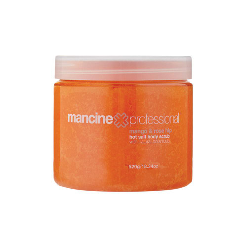 MANCINE - Hot Salt Body Scrub: Mango & Rose Hip 520g