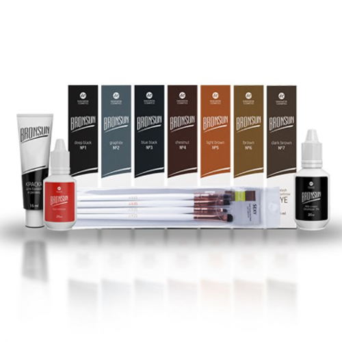 BRONSUN - Eyelash & Eyebrow Dye - Started Kit