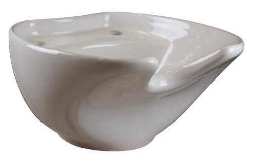 JOIKEN - Basin - Coral Ceramic Basin - White