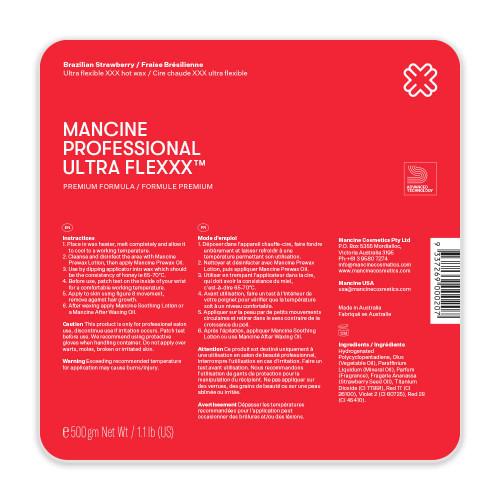 MANCINE - Hot Wax Ultra Flexxx Brazilian Strawberry 500g