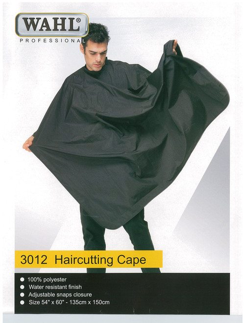 WAHL - 100% Polyester Haircutting Cape - Black