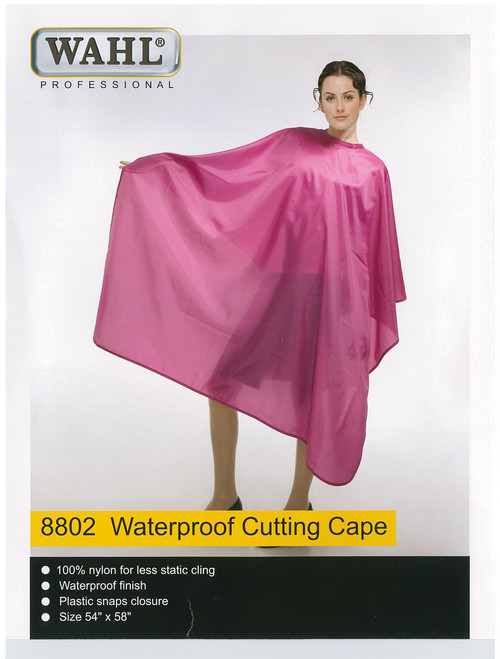 WAHL - 100% Nylon Waterproof Cutting Cape - Black